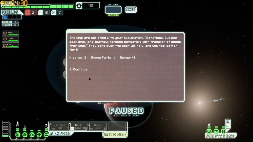 Altruism is so rare among FTL&#039;s NPCs, it sticks in the mind when it does occur.