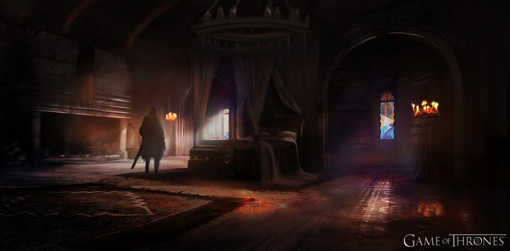 This is the concept art for the room where -- er, various things happen. Yes. Various things. Some of which are more variously spoileriffic than others.