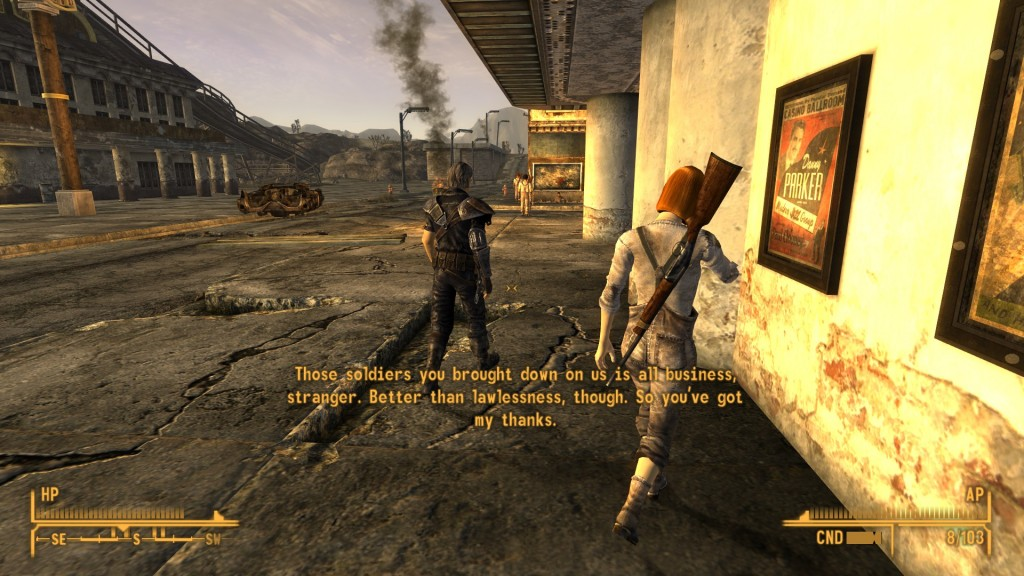 The townspeople give me their thoughts on an NCR garrison.