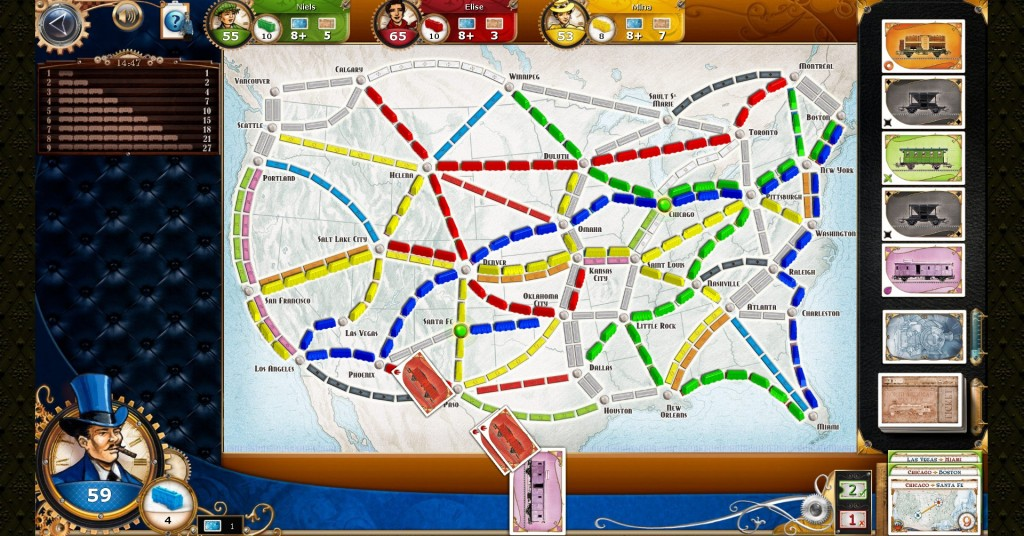 Ticket to Ride PC: clean, colourful, and attractive